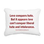 Liberal Hate Wins Rectangular Canvas Pillow