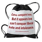 Liberal Hate Wins Drawstring Bag