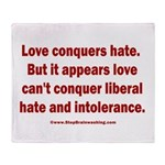 Liberal Hate Wins Throw Blanket