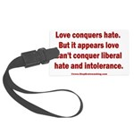 Liberal Hate Wins Large Luggage Tag