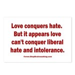 Liberal Hate Wins Postcards (Package of 8)