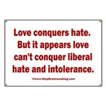 Liberal Hate Wins Banner