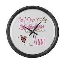 Fabulous Aunt Large Wall Clock