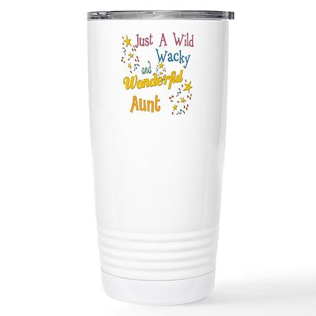Wild Wacky Aunt Stainless Steel Travel Mug