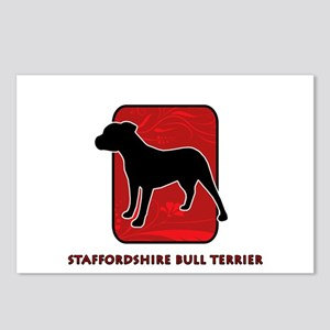 Staffordshire Bull Terrier Postcards (Package of 8