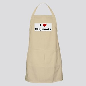 I love Chipmunks BBQ Apron