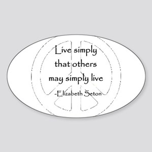 Live Simply Oval Sticker