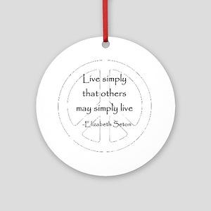 Live Simply Keepsake (Round)