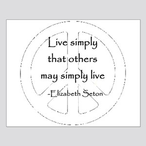 Live Simply Small Poster