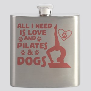 Love of dogs and yoga T-shirt Flask