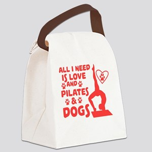 Love of dogs and yoga T-shirt Canvas Lunch Bag