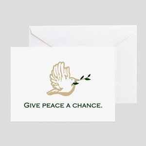 Give Peace a Chance Blank Greeting Card