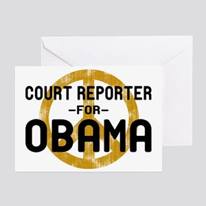 Court Reporter for Obama Greeting Cards (Pk of 10)