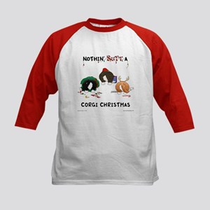Nothin' Butt A Corgi Xmas Kids Baseball Jersey
