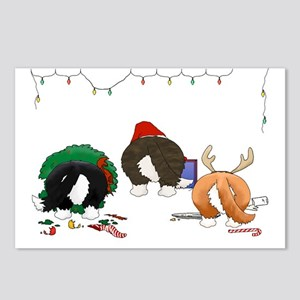 Cardigan Welsh Corgi Christmas Postcards(Pkg of 8)