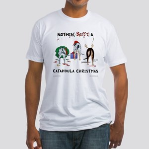 Nothin Butt Catahoula Xmas Fitted T-Shirt