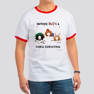 Nothin' Butt A Corgi Xmas Ringer T