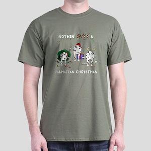 Nothin Butt Dalmatian Xmas Dark T-Shirt