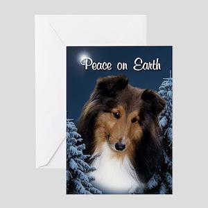 Peace Sheltie #3 Xmas Card