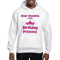 Great Grandma 1st Birthday Pr Hoodie