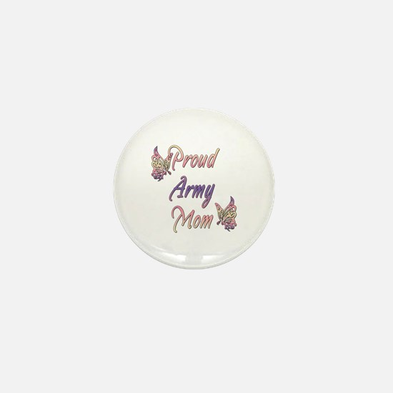 Proud Army Mom Mini Button