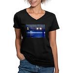 Magic Happens Women's V-Neck Dark T-Shirt