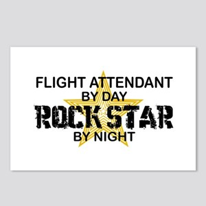 Flight Attendant Rock Star by Night Postcards (Pac