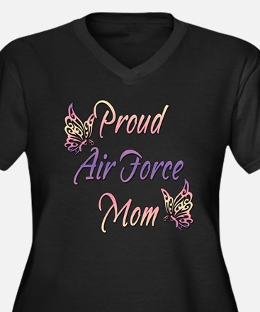 Proud Air Force Mom Women's Plus Size V-Neck Dark
