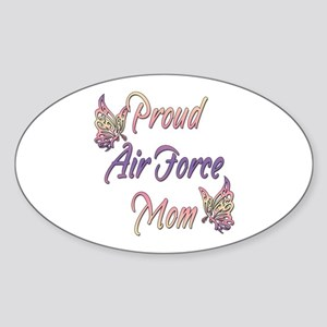 Proud Air Force Mom Oval Sticker