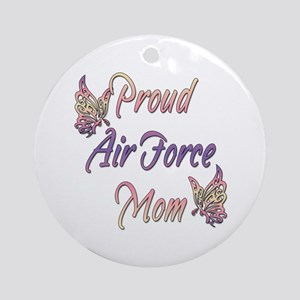 Proud Air Force Mom Ornament (Round)