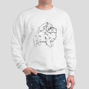 Pom Outline Black Sweatshirt