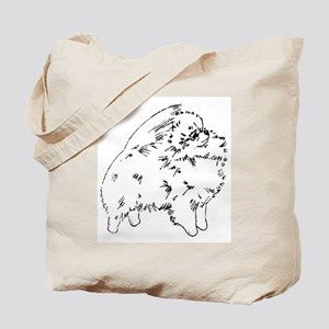 Pom Outline Black Tote Bag