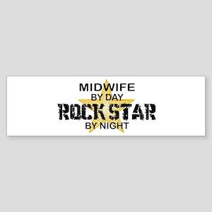 Midwife Rock Star by Night Bumper Sticker