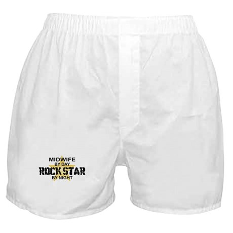 Midwife Rock Star by Night Boxer Shorts