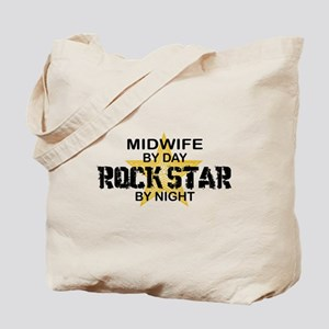Midwife Rock Star by Night Tote Bag