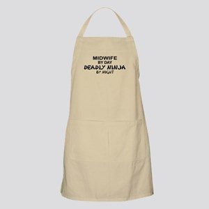 Midwife Deadly Ninja by Night BBQ Apron