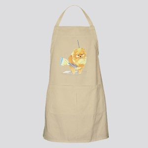 Pom Being Brushed BBQ Apron