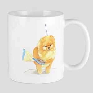 Pom Being Brushed Mug
