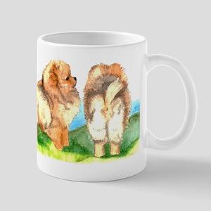 Pom Pups on Grass Mug
