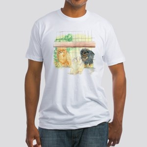 Poms in Yard Fitted T-Shirt