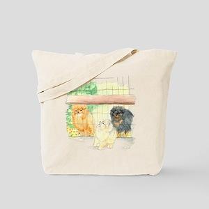 Poms in Yard Tote Bag