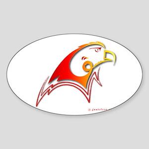 Eshgh (Love) Red Eagle Oval Sticker