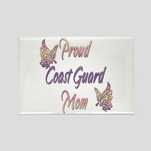 Proud Coast Guard Mom Rectangle Magnet