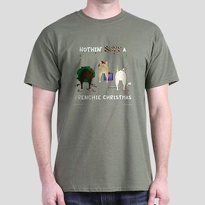 Nothin' Butt A Frenchie Xmas Dark T-Shirt