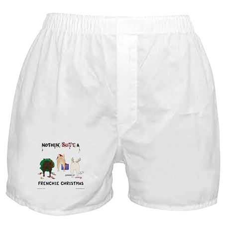 Nothin' Butt A Frenchie Xmas Boxer Shorts