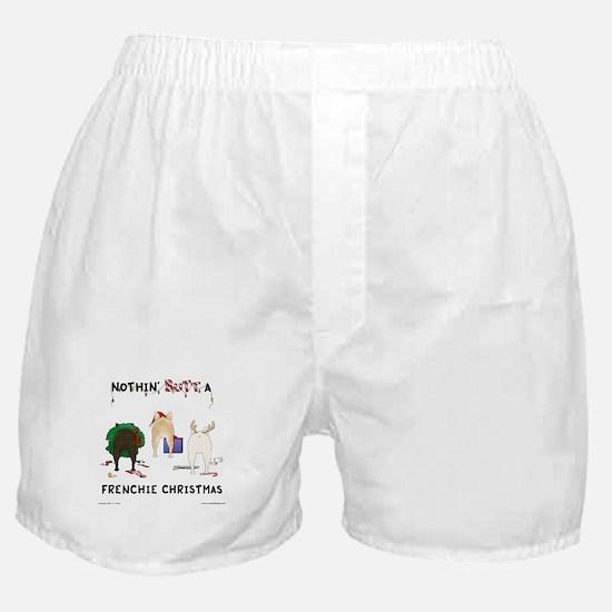Nothin' Butt A Frenchie Xmas Boxer Shorts