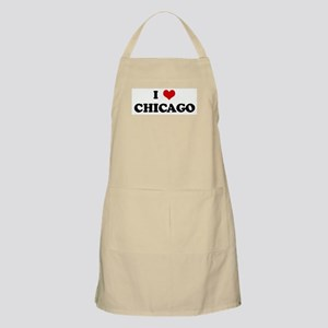 I Love CHICAGO BBQ Apron