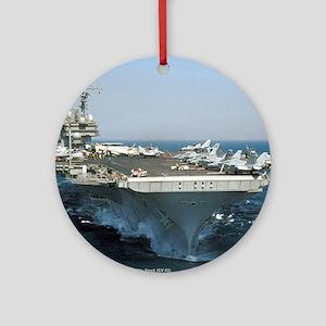 USS Kitty Hawk Ornament (Round)