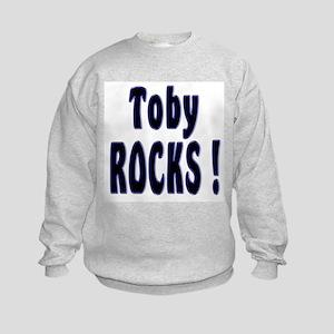 Toby Rocks ! Kids Sweatshirt