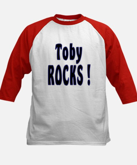 Toby Rocks ! Kids Baseball Jersey